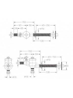 J.SUISSE 17203 Concealed WC Flush Valve WBFT400453CP