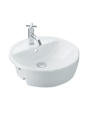 Johnson Suisse BASEL Semi-Recessed Basin (White) WBAABA201WW