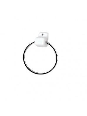 J.SUISSE  Towel Ring Set Cw Acc. (White) WBSSTG000