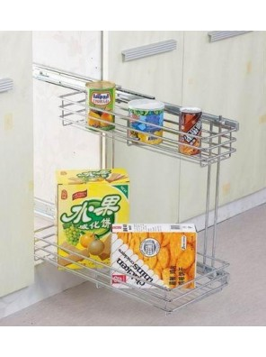 LIFE Kitchen Side Basket 2 Layer(Chrome) KB 10/500/001C