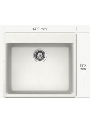 BARENO GEMO N-100 (ALPINA) 1 Bowl Cristalite Granite Sink