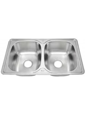 AIMER S/S One Piece Double Bowl Sink SUS 304 AMKS 8448