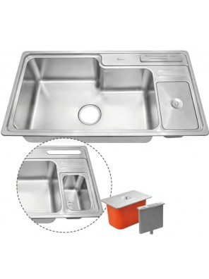 AIMER S/S Topmount Single Bowl Sink SUS 304 AMKS 8445