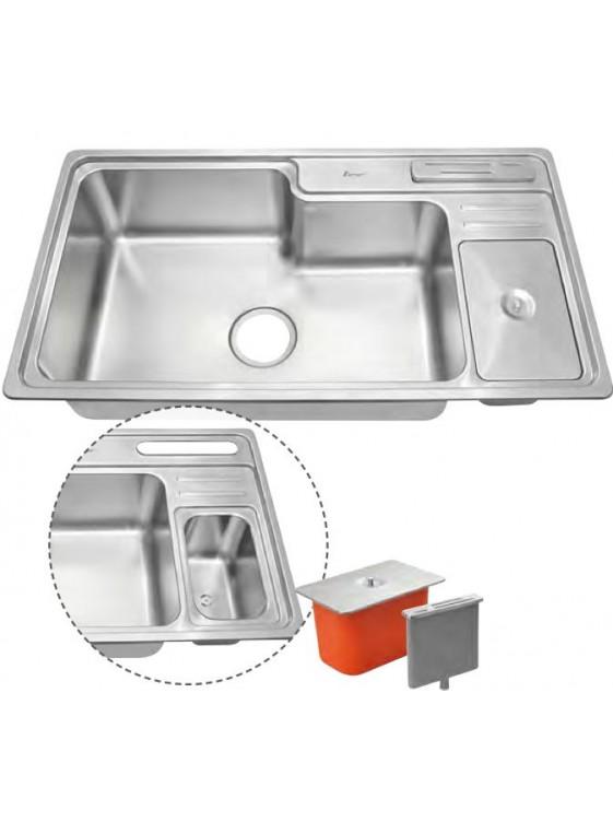 AIMER S/S Topmount Single Bowl Sink SUS 304 AMKS 8445