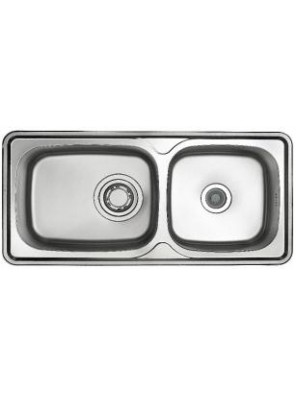 HANGAON ISD 1000-Classic Collection S/Steel Double Bowl Sink
