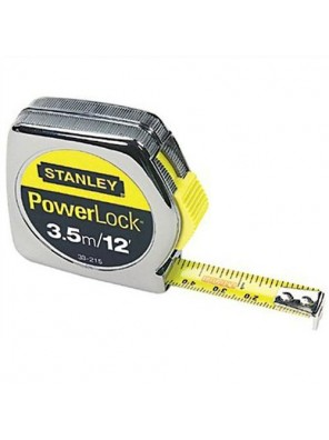 STANLEY 33-215-2 Powerlock Tape Rule   L 12FT/5M