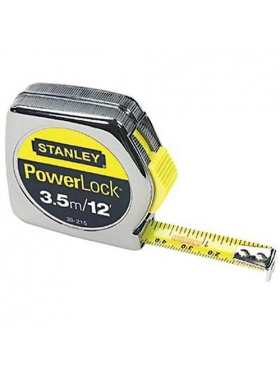 STANLEY 33-215-2 Powerlock Tape Rule   L 12FT/5M