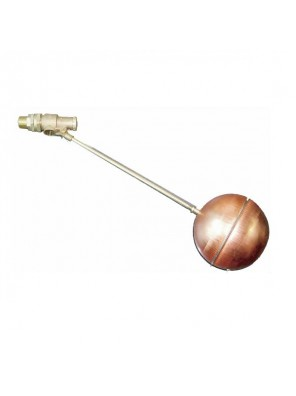 "ELLIOTT - 1-1/2"" Brass Float Valve C/W 10"" Copper Ball (250MM) 1215E"