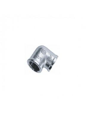 """MECO 1/2"""" F-F Brass Chrome Elbow; E312C"""