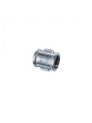 "MECO 1/2"" F-F Brass Chrome Straight Coupler; S342C"