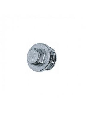 """MECO 1/2"""" M Brass Chrome Hexagon End Cap; EC362C"""