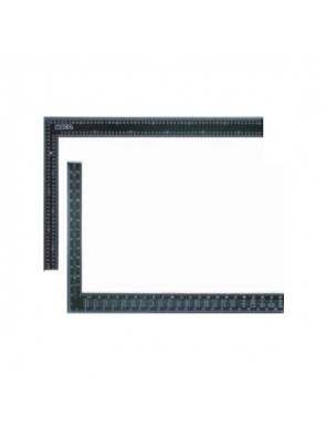 "MECO 24""(600MM) X 16""(400MM) Carpenter's Square Black ;4560"