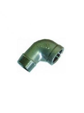 "MECO S/Steel Elbow Mxf 1/2"" X 90° -Bsp Thread ESF12"