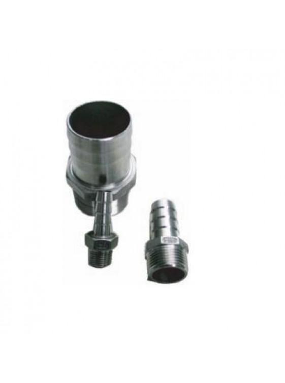 """MECO S/Steel Hose Nipple 1/2"""" -Bsp Thread HN12"""