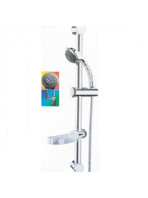 MECO - Shower Chrome Set (Sliding Rod, Soap Dish); MRS1230