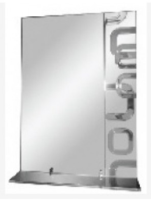 BARENO Bathroom Mirror With Glass Shelf B-G4130