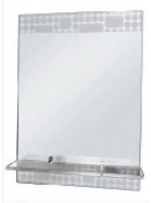BARENO Bathroom Mirror With Glass Shelf B-G4145