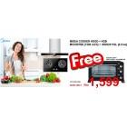 Midea Cooker Hood MCH-90TM2 + Hob MGH-2411GL FREE OVEN