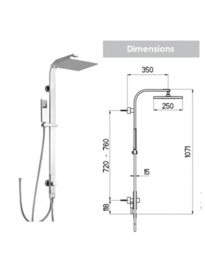 NIKLES Shower Pure 6-Q260-Flat Renovation (A53MS.25.261.05N)