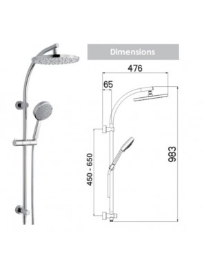 NIKLES Shower Sys. Architect 24-1 (A65.24.022T05N)