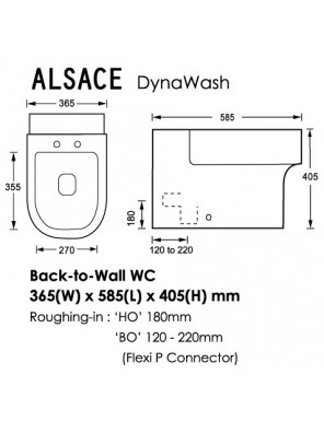ORIN Alsace HO Back-To-Wall Wc HO 180mm (White)