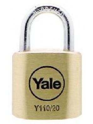 YALE 2pcs key alike Brass Padlock Y110/20/111/2