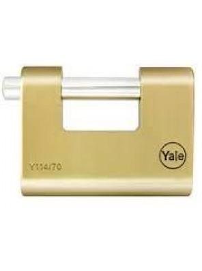 YALE 80mm Solid Brass Padlock Y114/80/118/1