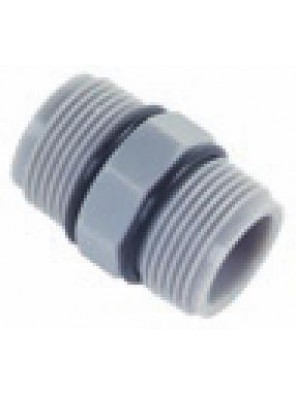 "BUTELINE HDPE Barrel Nipple 1/2"" x 3/4"" BSPT - BN422"