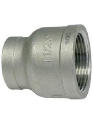 """S/Steel Reducing Socket 65mm (2-1/2"""") x 25mm (1"""") S.S 304"""