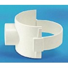 "UPVC Boss Connector White 160mm x  82mm(6"" x 3"")"