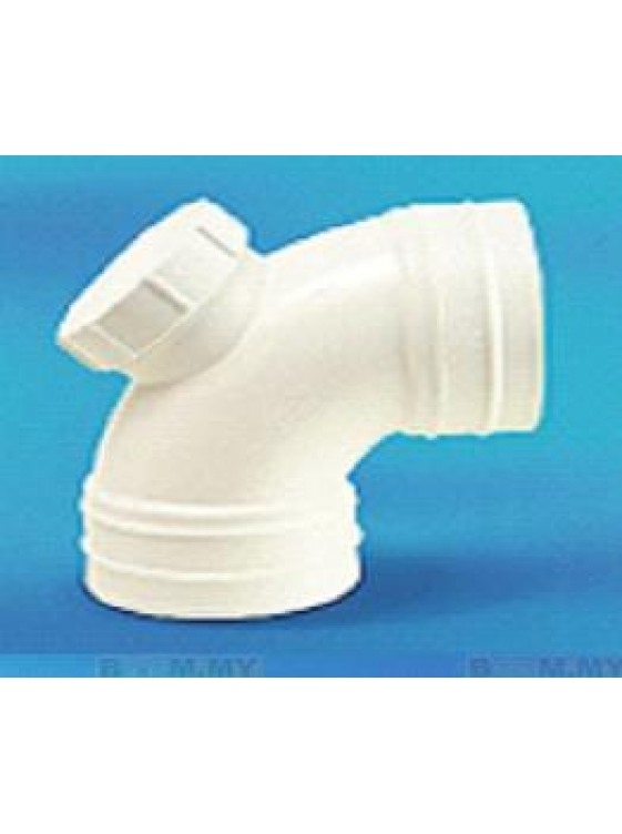 "UPVC Bend With Door (I) White 40mm (1-1/2"") x 90º"