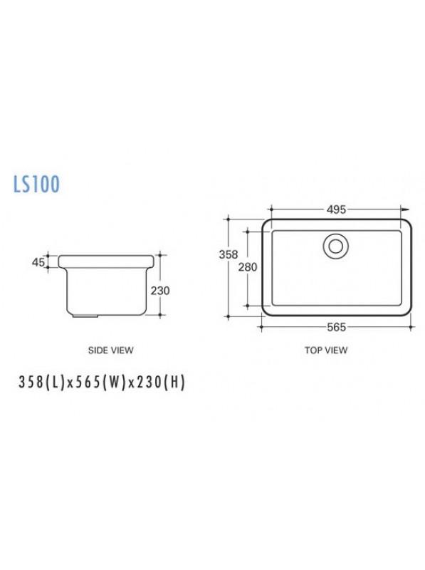 Potex LS100 Ceramic Lab Sink