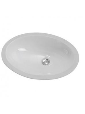 Mona Under-Counter Top Vanity Basin; White WB210