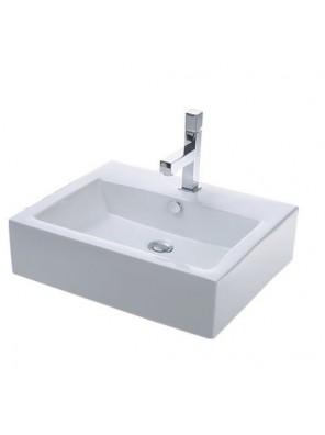 Potex Caravaggio Cube 7005A Retangular Console Basin White