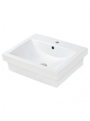 Potex Caravaggio Cube 7028A Retangular Vanity Basin; White
