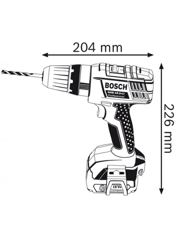 BOSCH 18 V LI-ION Cordless Impact Drill GSB 18-2-LI