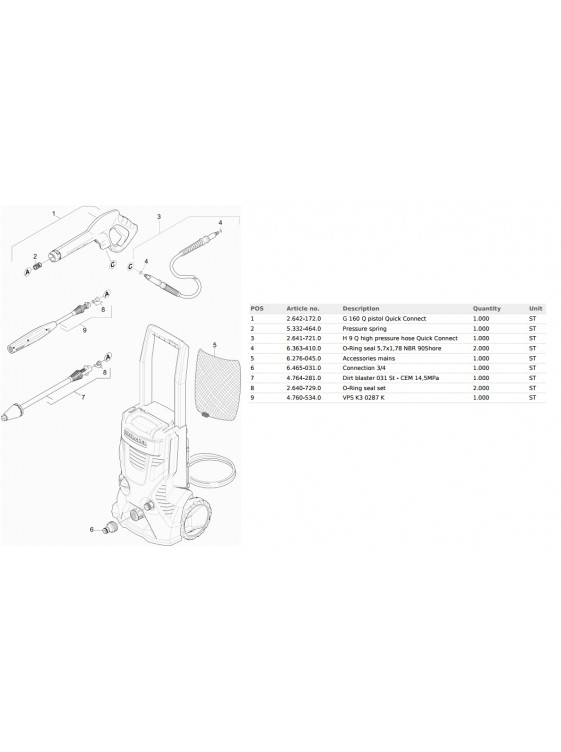 KARCHER High Pressure Cleaner K4 Basic 1.8KW 20-130 Bar Max