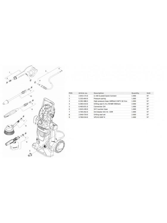 KARCHER High Pressure Cleaners K5 Premium 2.1KW 20-145 Bar M