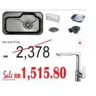 HANGAON  Kitchen Sink ESC840+J.Suisse Messina  Sink Mixer