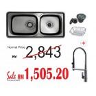 HANGAON  Kitchen Sink ISD1000 + J.Suisse Sink Mixer Pretty