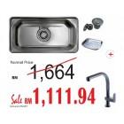 HANGAON  Kitchen Sink LJS850 + Johnson Suisse Sink Tap Ferla