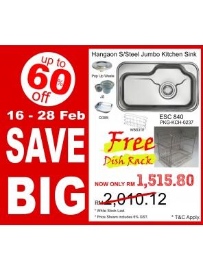 HANGAON  Kitchen Sink ECS840  FREE Dish Rack