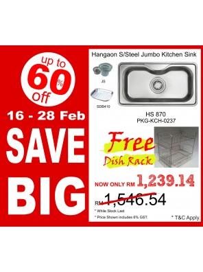 HANGAON  Kitchen Sink HS870  FREE Dish Rack