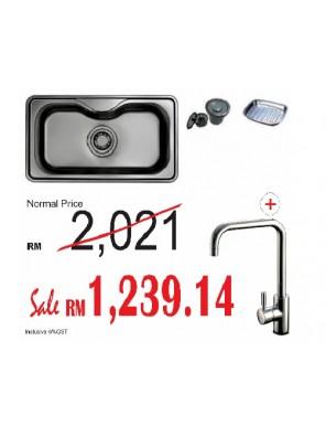 HANGAON  Kitchen Sink HS870 + J.Suisse Sink Mixer Ferrara