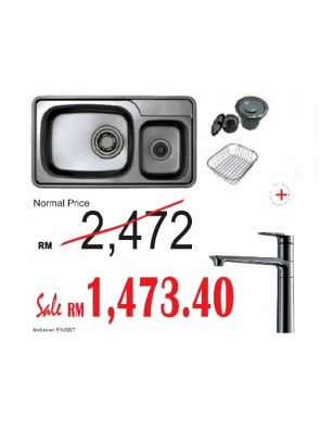 HANGAON  Kitchen Sink LISD870 + J.Suisse Sink Mixer Pretty