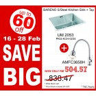 BARENO Kitchen Sink UM2053 + Flexible Sink Tap AMFC3658H
