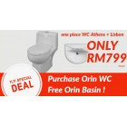 Orin Athen One Piece Wash down WC BO150-300mm Package