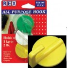 REX 1016 Adhesives All Purpose ABS Hook 3 pcs/pack