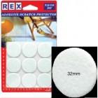 REX 1035 Cotton White Felt 32mm 9 pcs/pack