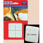 REX 1038 Cotton White Felt 32mm x 34mm 4 pcs/pack